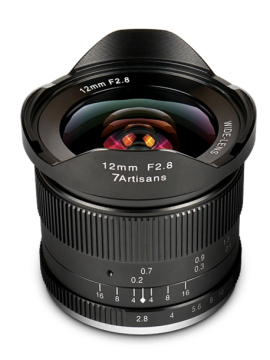 7ARTISANS 12MM F 2.8 APS C FIXED LENS BLACK FOR M43 (PANASONIC OLYMPUS)