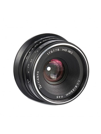 7ARTISANS 25MM F1.8 MANUAL FOCUS PRIME FIXED LENS BLACK FOR CANON (EOS M MOUNT)  CAMERA
