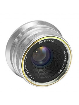 7ARTISANS 25MM F1.8 MANUAL FOCUS PRIME FIXED LENS SILVER FOR SONY E MOUNT CAMERA