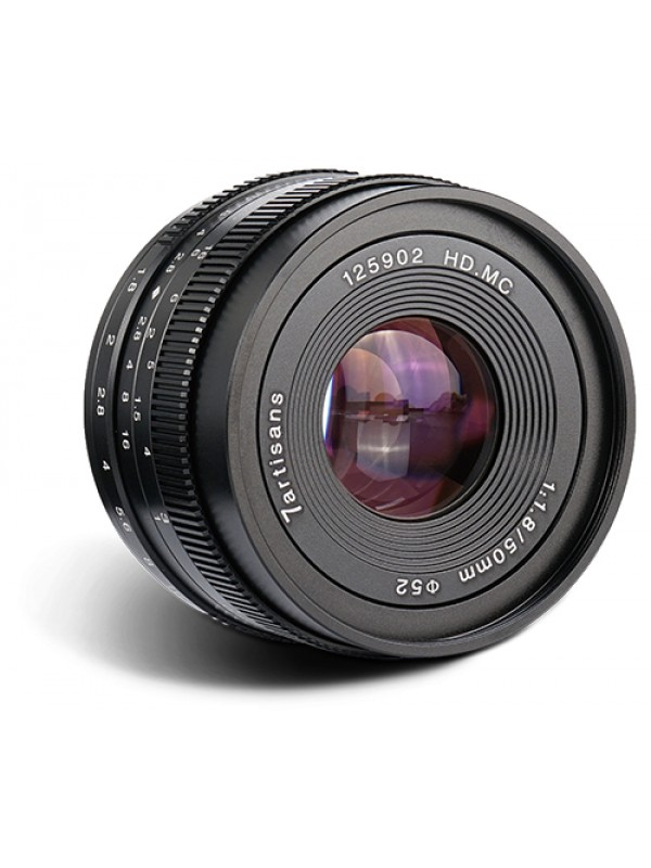 7ARTISANS 50MM F1.8 APS C MANUAL FIXED LENS BLACK FOR  FUJI (FX MOUNT )