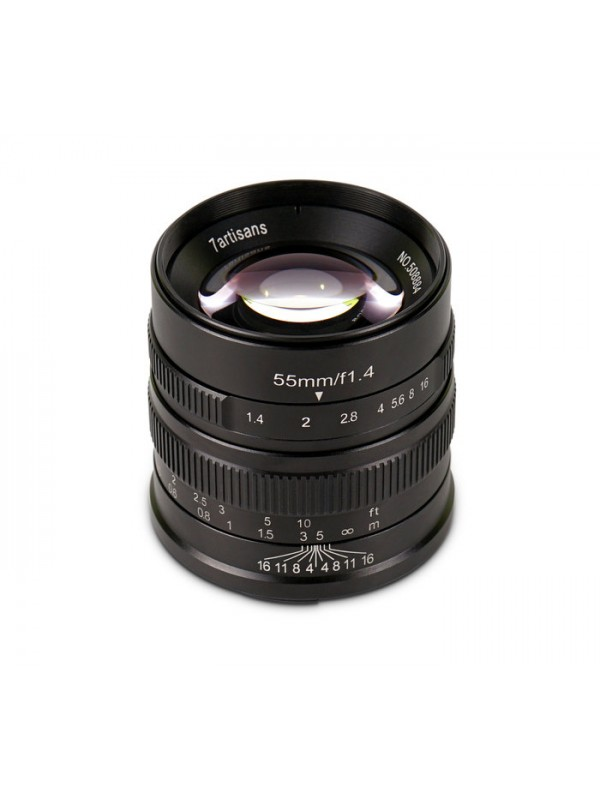 7ARTISANS 55MM F1.4 APS C MANUAL FIXED LENS BLACK FOR  FUJI (FX MOUNT)