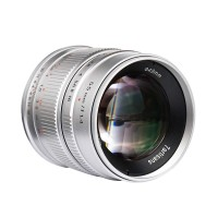 7ARTISANS 55MM F1.4 APS C MANUAL FIXED LENS SILVER FOR FUJI (FX MOUNT)