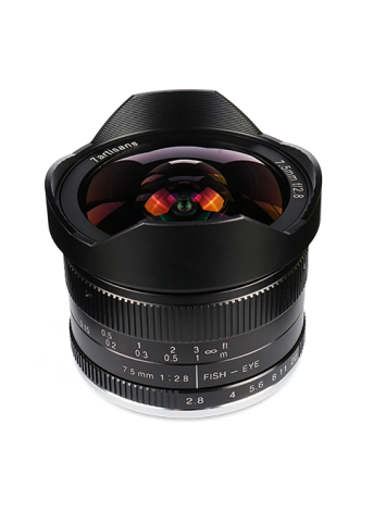 7ARTISANS 7.5MM F2.8 APS C FISHEYE FIXED LENS FOR FUJI (FX MOUNT)