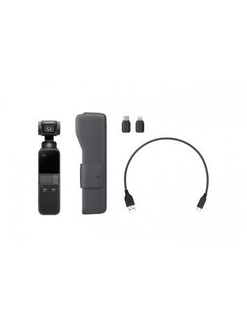 DJI OSMO Pocket Handheld 3-axis Gimbal with Integrated Camera (Black) | 12 MP Camera | 4K Video at 60 FPS