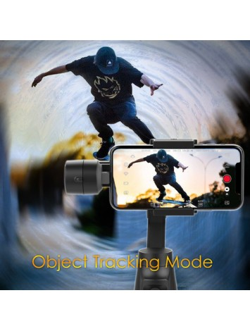 Moza Mini-MI 3-Axis Smartphone Gimbal Stabilizer with Wireless Phone Charging Multiple Subjects Detection 360° Rotation Inception Mode Stunning Motion Timelapse
