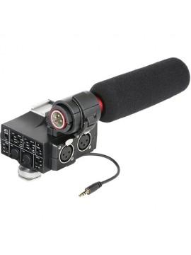 Saramonic MixMic Shotgun Microphone with Integrated 2-Channel Audio Adapter