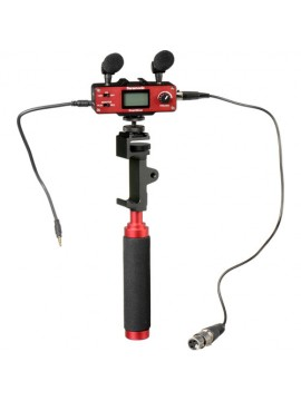 Saramonic SmartMixer – Audio Mixer/Adapter Kit for iOS/Android with Mics, Device Holder, and Grip