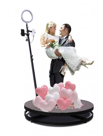 4ft Factory Sale Wedding Portable 360 Degree Video Booth Spinner Degree Camera Photo Booth 360 For Product Launch