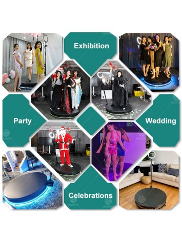 3.5ft Remote Control Wireless Slow Motion Portable Revolve Selfie 360 Spinner Degree Photo Booth 360 Video Booth Machine Video Spinny