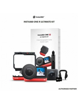 INSTA360 ONE R ULTIMATE KIT – 5.3K 1-INCH SENSOR ACTION CAMERA & 5.7K 360 CAMERA