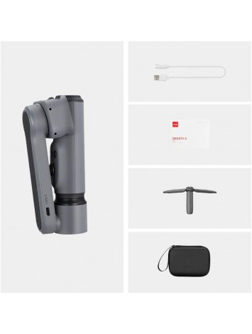 Zhiyun Smooth X Gimbal Stabilizer Combo Kit for Smartphone w/Selfie Stick Tripod, Face Tracking, Bluetooth, Gesture, YouTube Vlog Video, Zoom - Gray