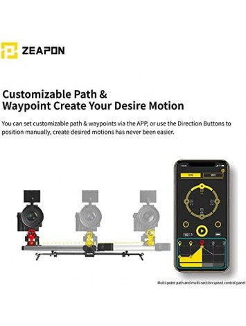 Zeapon Micro 2 E600 Motorized Double Distance Camera Slider, Max. Payload 8kg/18lbs,APP Supported Android & iOS (Travel Distance 74cm)