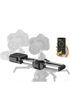 Zeapon Motorized Micro 2 Camera Slider, Travel Distance 52cm/20in, 4.5KG All-Direction Carrying Capacity, 39 Decibels Motor, 3 Adjustable Speeds, Power-Off Protection, APP Supported Android & iOS