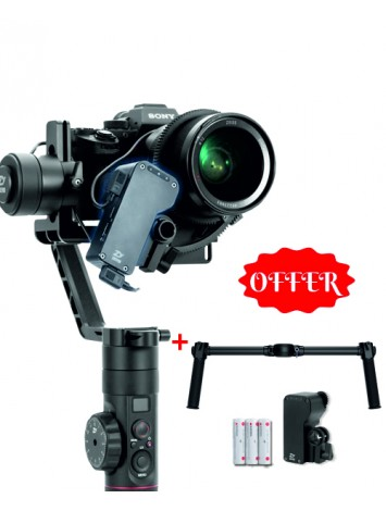 Zhiyun Crane 2 With focus motor, Dual Handle & 1 Extra Set of batteries
